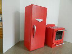 DIY American Girl Doll fridge and Stove