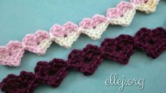 Free photo crochet tutorial. This a very good idea on Valentine's Day- make the Heart Strings and tie it a gift. You can use any leftover yarn and a matching hook size.