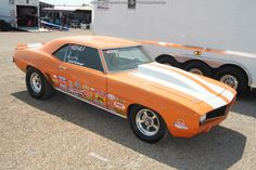Orange 1969 #Camaro #NHRA Sportsman racer