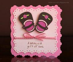 Baby Congrats card using the Cricut