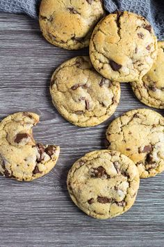 My Favourite Chocolate Chip Cookies - These cookies are deliciously soft, thick, big on flavour, and stuffed full of melty chocolate chips. They are a favourite for a reason! #chocolatechipcookies #cookies #recipe