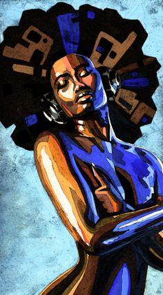 Black art Stay tuned for more wonderful afrocentric art Dope Kunst, Art Beauté, Arte Black, Natural Hair Art, Natural Beauty, Black Artwork, Wow Art, Afro Art, Arte Popular