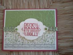 Stampin Up Merry and Type