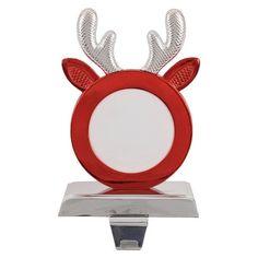 Picture Frame Deer Stocking Holder; $10  @ Target Pet Stockings, Stocking Holders, Picture Frames, Bookends, Deer, Home Appliances, Cool Stuff, Target, Pictures