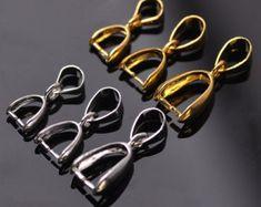 Bails for pendants | Etsy Jewelry Findings, Pendant Jewelry, Platinum Metal, Swarovski Pendant, Diy Jewelry Supplies, Jewelry Companies, Sterling Silver Pendants, Antique Silver, Jewelry Making