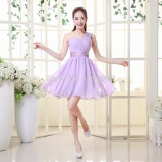 >> Click to Buy << 2016 new stock Plus size Short design strap wedding party dress one shoulder chiffon sweetheart dress Bridesmaid Dresses x20 #Affiliate