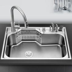Kitchen Sink Above Counter Or Udermount Sinks Vegetable Washing Basin Stainless Steel Single Bowl 1 2mm In 2020 Kitchen Sink Replacing Kitchen Sink Kitchen Sink Design
