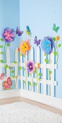 Garden room kids So gest - gardenroom Girls Flower Bedroom, Flower Room, Garden Theme Classroom, Classroom Decor, Kids Room Design, Room Kids, Kids Bedroom, Girl Bedrooms, Decoration Creche