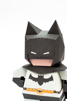 3D Paper Model Instruction - illustration for teaching me how to make toys, paper toys, paper model, the third Batman (Chibi Batman Papercraft Model).