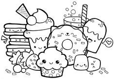 How to draw clothes for kawaii characters, examples with images. Steps to design unique kawaii characters. Week 17 of my kawaii drawing challenge. Food Coloring Pages, Cartoon Coloring Pages, Animal Coloring Pages, Free Printable Coloring Pages, Coloring For Kids, Coloring Books, Free Coloring, Adult Coloring, Superhero Coloring Pages