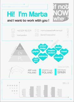 creative resume by Marta Kawecka, via Behance
