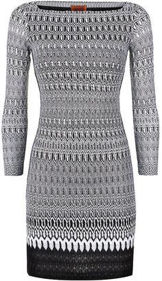 Missoni Lurex Crochet Dress in Black   Lyst