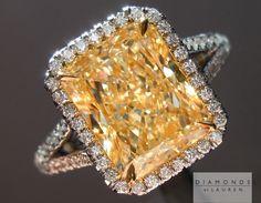 faint yellow diamond ring