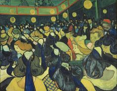 "La salle de danse à Arles by Vincent Van Gogh Most Armory Show critics considered van Gogh, along with Paul Cézanne and Paul Gauguin, ""the trinity of modern painting"" and the last of the acceptable modern European painters. One critic reported that Bal à Arles was the most popular Van Gogh painting exhibited at the Armory Show."
