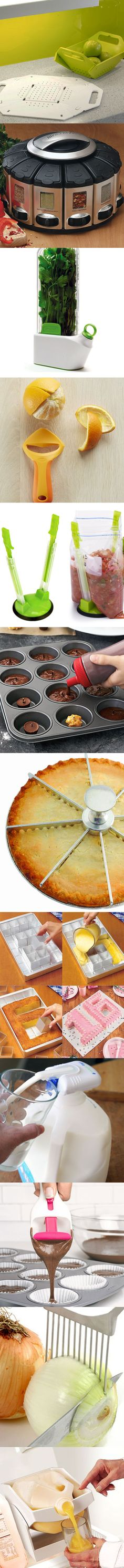 Twelve genius gadgets for in the kitchen. The gadgets on this pin will amaze you. These gadgets will make your life so much easier while in the kitchen. Cool Kitchen Gadgets, Home Gadgets, Cooking Gadgets, Gadgets And Gizmos, Geek Gadgets, Kitchen Hacks, Kitchen Tools, Cool Kitchens, Kitchen Appliances