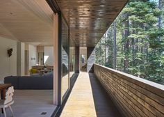 Tar-coated ski chalet in California nestled in a high alpine forest