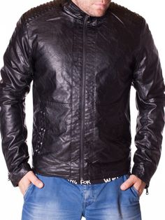Geaca barbati The Power neagra din piele Leather Jacket, Interior Design, Jackets, Fashion, Studded Leather Jacket, Nest Design, Down Jackets, Moda, Leather Jackets