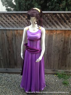 "Megara ""Meg"" Park Style Hercules Women's Costume Adult Screen Quality Dress Gown"