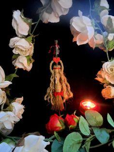 Pagan Goddess Altar Besom. Love Passion by PositivelyPagan on Etsy