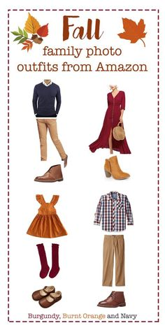Best ideas for photography family outfits dresses Fall Family Picture Outfits, Fall Photo Shoot Outfits, Family Picture Colors, Family Portrait Outfits, Fall Family Portraits, Fall Family Pictures, Fall Outfits, Picture Ideas, Family Posing