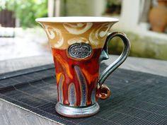 Ceramics and Pottery Coffee Mug, Tea mug, Unique Ceramic Mug, Cute Mugs, Handmade Mug, Handcrafted Mug, Art Pottery