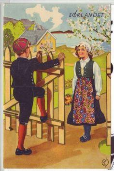 Sørlandet- (bunadskort) brukt 1946.
