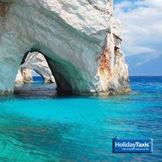 Blue Caves, Zakynthos, Greece Take 10% off all Greece transfers in the next year when you book them during October with HolidayTaxis.com. Just click on the picture to get your secret discount...! :)