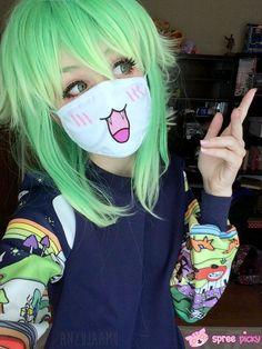Kawaii relates to Man in the mask movie idea Kawaii Cosplay, Cosplay Anime, Best Cosplay, Cosplay Girls, 707 Cosplay, Cosplay Style, Harajuku Fashion, Kawaii Fashion, Emo Girls