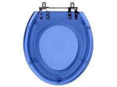 Assento Sanitário Azul Translúcido Aspen - para Louça Deca - Pontto Lavabo