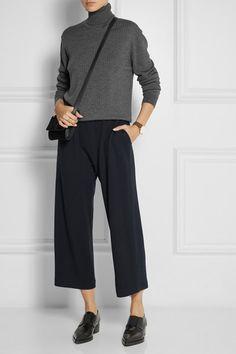 Culottes + grey cropped jumper
