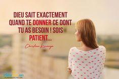 Etre Patient, Christian Verses, Positive Mind, Patience, Jesus Christ, Best Quotes, Exactement, Bible, Positivity