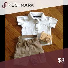 Khaki shorts and shirt set Simple, Classic and Sweet. Matching Sets