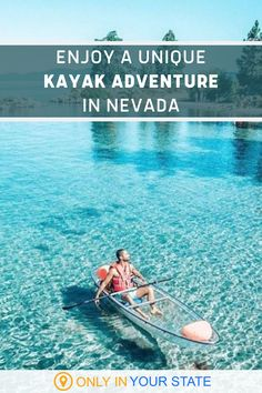 Boat in beautiful Lake Tahoe in a unique glass bottom kayak! A scenic adventure, Nevada's Clearly Tahoe offers a variety of beginner and family friendly tours including LED night paddles. | Travel | Summer Bucket List | Family Vacation | Things To Do With Friends | Day Trip Ideas | Beach Trip