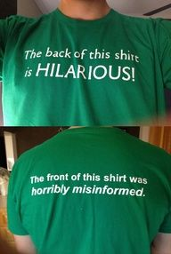 That shirt...so witty :)