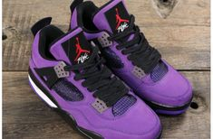 Best Online Sneaker Store Where to Buy Top Quality Cheap Travis Scott x Air Jordan 4 Purple For Human Race Boost with Great Discount. Retro Jordans 11, Newest Jordans, Nike Air Jordans, Jordan Shoes Girls, Air Jordan Shoes, Jordan Shoes For Sale, Jordan Outfits, Nike Air Max Jordan, Jordan 4