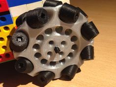 Parametric Lego Mindstorms Mecanum Wheel 82 mm (iteration 3) by drato