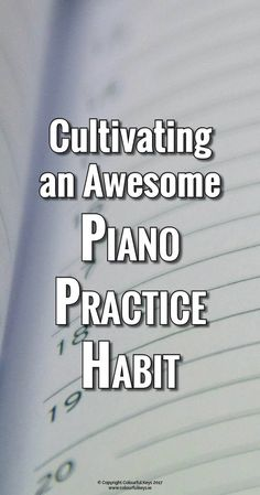 Piano practicing challenge to create a practice habit #LearningPiano