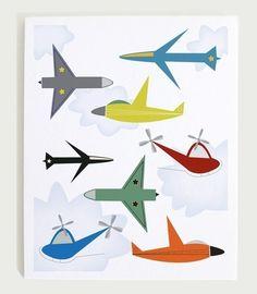 Retro vintage aeroplane poster