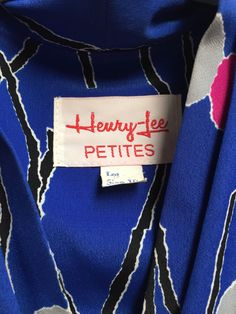 Regular 10 Vintage Dresses for Women Henry Lee, Clothing Tags, Belted Dress, Vintage Patterns, Vintage Dresses, High Fashion, Pink, Blue, Clothes