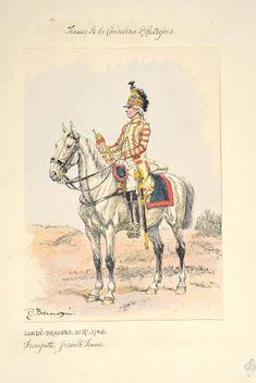 Condé-Dragons 11e Régiment 1786 trompette grande tenue