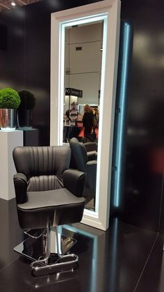 Ayala furniture stand at TOP HAIR 2016 fair in Dusseldorf-  Germany. Zofia salon collection. #Salonideas #Salondesign