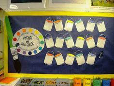 "Artist of the Week. Very fun and colorful way to do an ""All About Me"" board or a historical figure study."