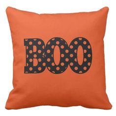 BOO THROW PILLOW - Halloween happyhalloween festival party holiday