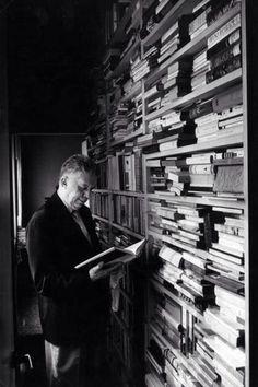 Eugenio Montale in his Library, Milano 1962 By Mario De Biasi