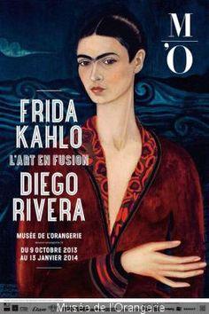Frida Kahlo et Diego Rivera au Musée de l'Orangerie  du 12 novembre au 13 janvier 2014 #fridakhalo #museedelorangerie                                                                                                                                                     Plus