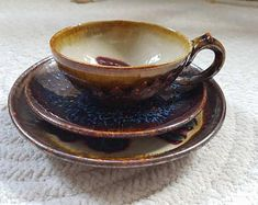 Vintage Collector's cup boho decor bohemian Cupe plate