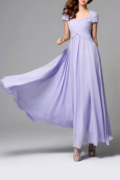 Bohemian Waisted Corset Purple Dress