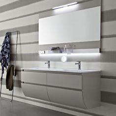 Arredo bagno doppio lavabo in cristallo da 210 cm vari colori bagno pinterest jacuzzi - Doppio lavandino bagno ...