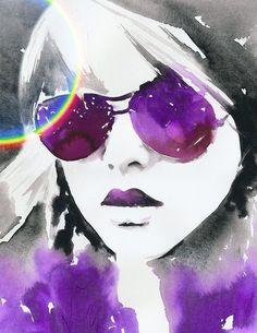 Watercolor Fashion.facesunglasses