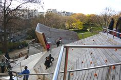 Base Playground in Belleville Park in Paris 04 « Landscape Architecture Works | Landezine